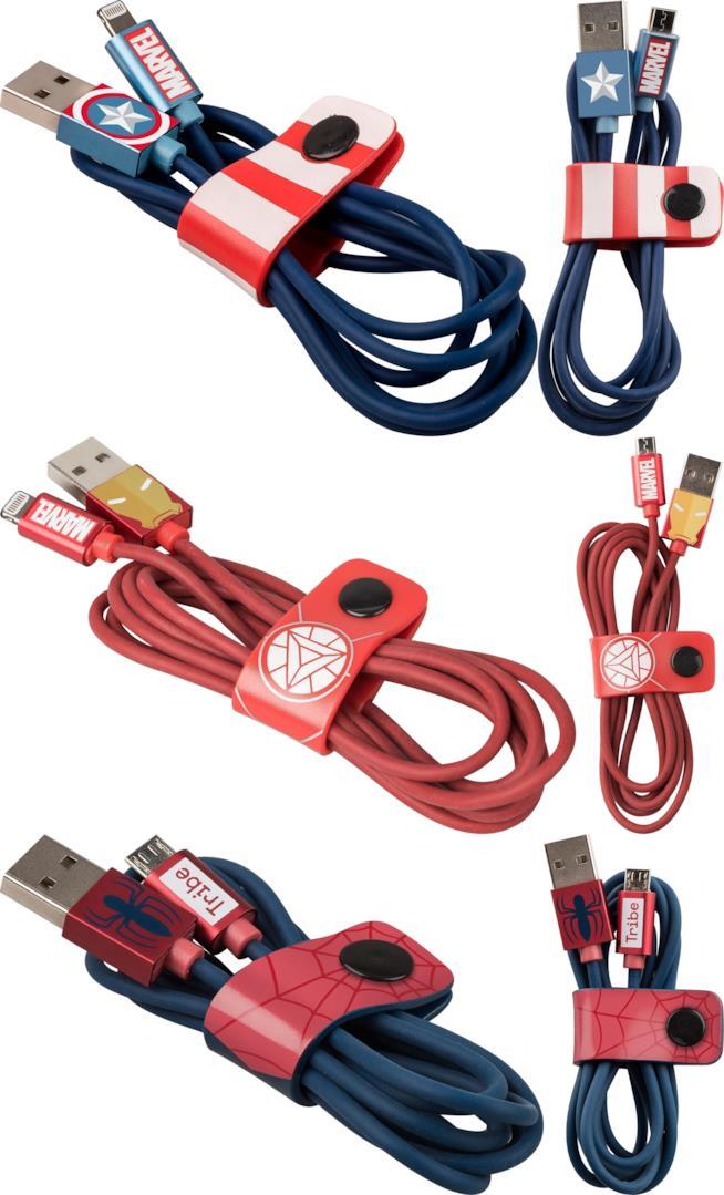 Cavi di alimentazione USB di Tribe ispirati agli eroi marvel