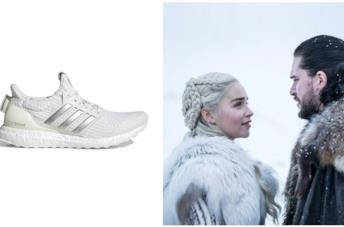 Scarpe da running proposte da Adidas, che si ispirano ai personaggi della serie tv Games of Thrones