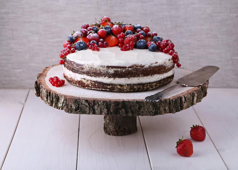Earl gray cake con frutta fresca