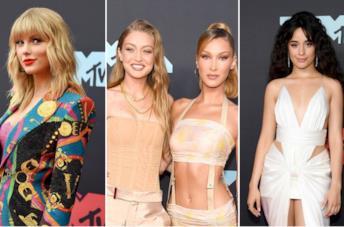 Collage di look ai VMA 2019