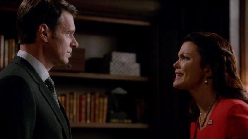 Mellie e Jake in una scena di Scandal 7