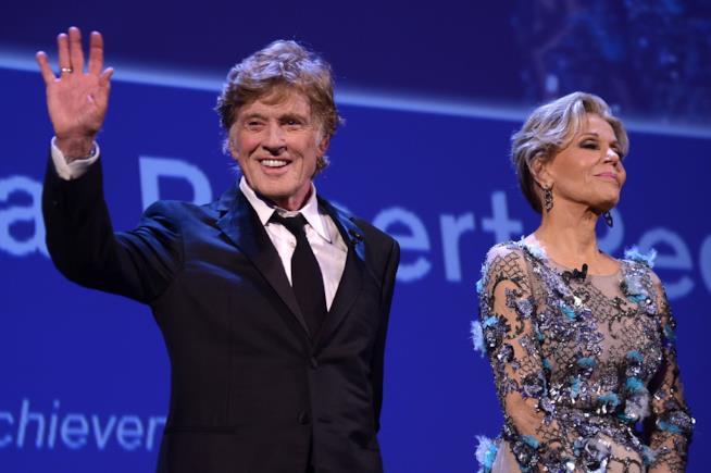 Robert Redford e Jane Fonda al Festival di Venezia