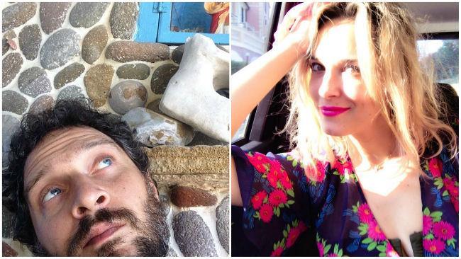 La neo-coppia Claudio Santamaria e Francesca Barra