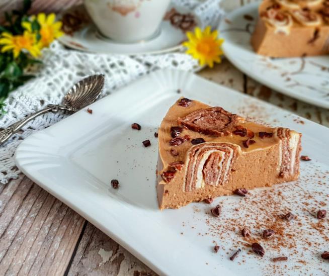 Fetta di dolce al cacao