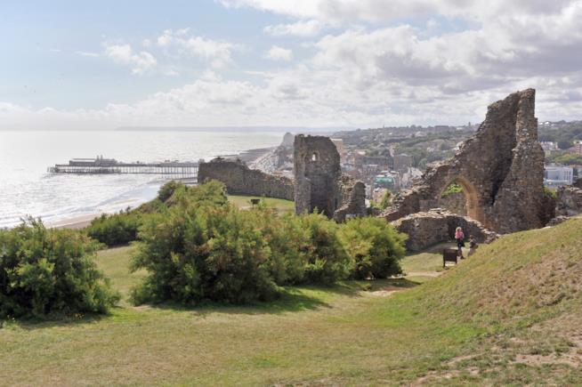 Il castello di Hastings e il suo splendido panorama