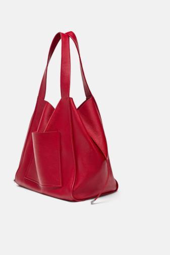 Shopper in pelle rosso