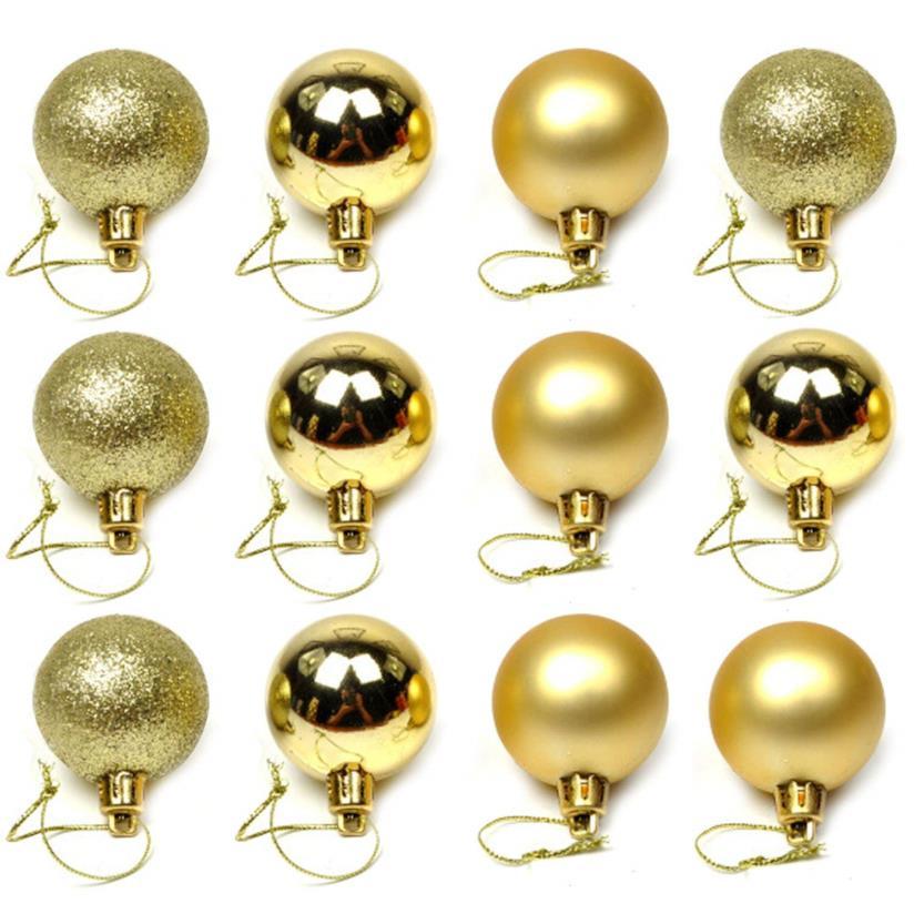 Palline natalizie color oro