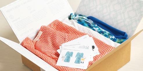 Pacco del servizio di shopping online Stitch Fix