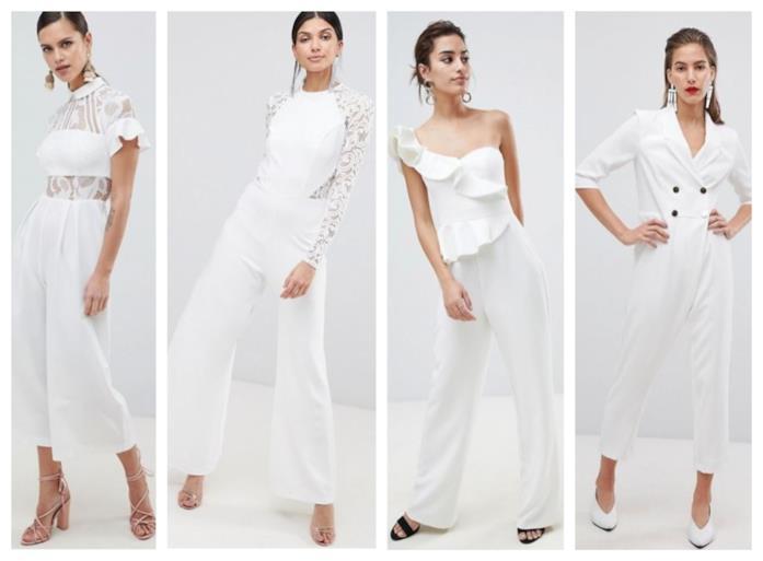 timeless design 08351 0f86c Abiti da sposa: le tute eleganti e jumpsuit per i matrimoni ...