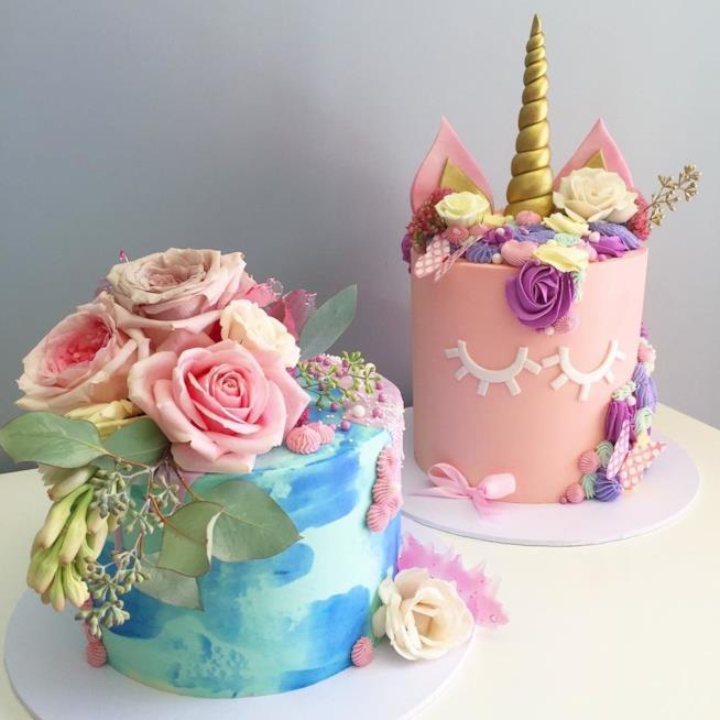Torte unicorno e sirena