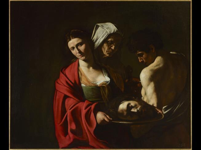 Il dipinto di Caravaggio Salomè con la testa del Battista