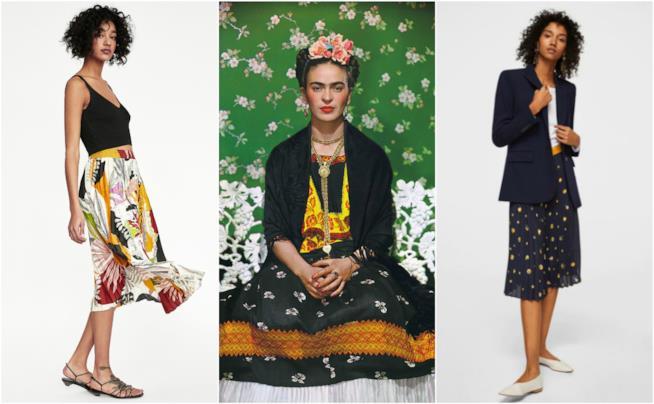 Gonne stampa floreale moda Primavera-Estate 2018