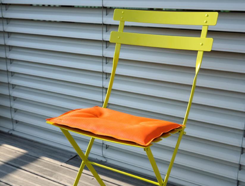 Cuscino da esterni arancione per sedia Bistro di Fermob