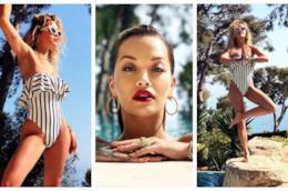 La cantante Rita Ora è di tendenza con il costume intero