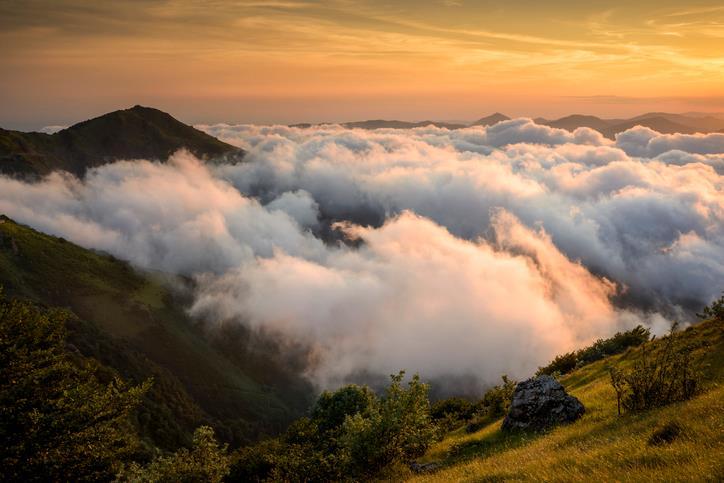 Tramonto visto dalla cima del Monte Beigua