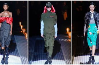 La sfilata di Prada durante la fashion week milanese