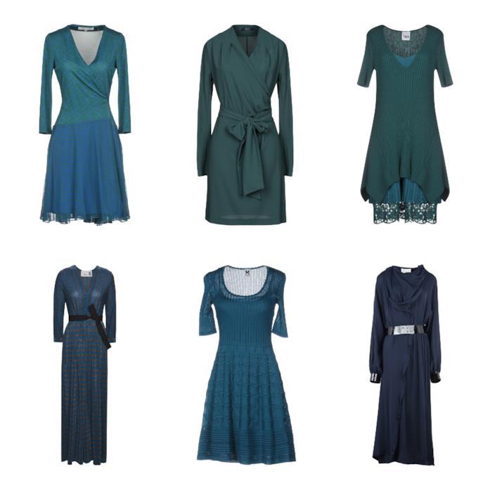 Vestiti corti e lunghi verde e blu di tendenza per l'A/I 2018-19