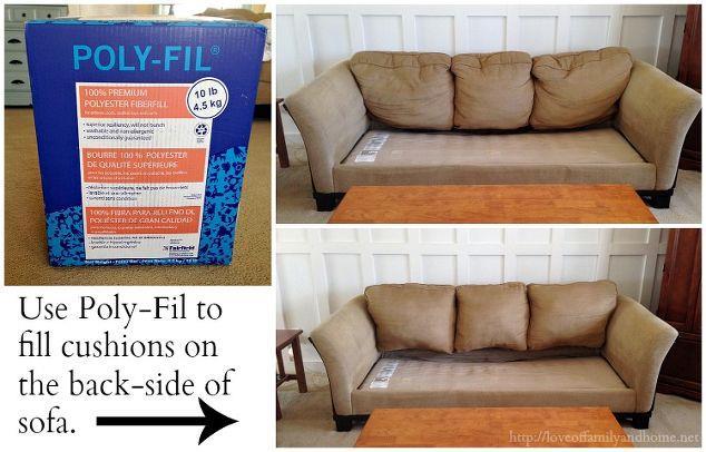 Schienale del divano con imbottitura arricchita da fibra di poliestere in vendita nei grandi magazzini del fai da te