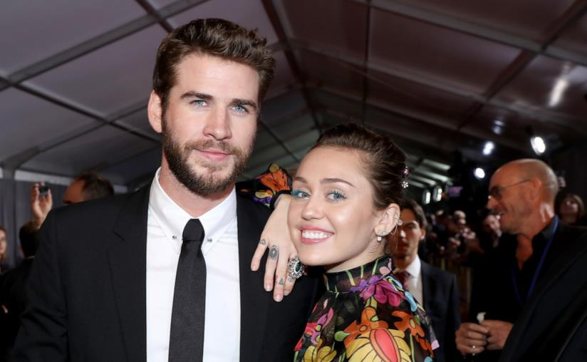 Miley Cyrus e Liam Hemsworth a un evento