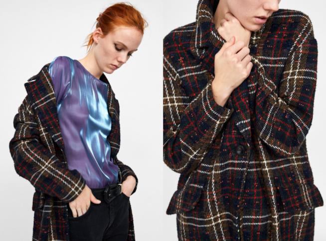 A quadri, il cappotto maxi di tendenza per l'inverno 2018