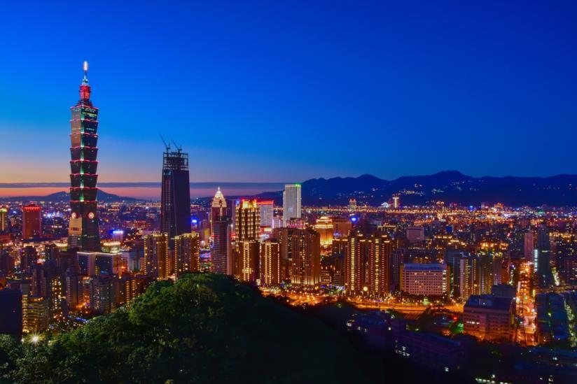 Taipei di notte
