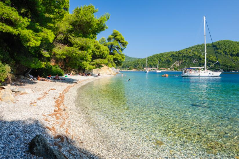 Spiaggia a Skopelos