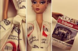 Una Barbie vestita con gli origami di Jian Yang