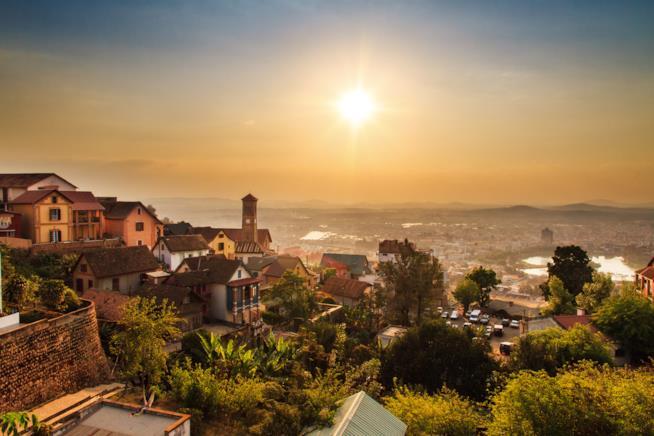 La capitale del Madagascar: Antananarivo
