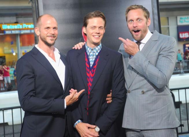 I fratelli Skarsgård alla premiere di IT