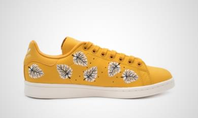 Adidas Stan Smith gialle con dettaglio foglie