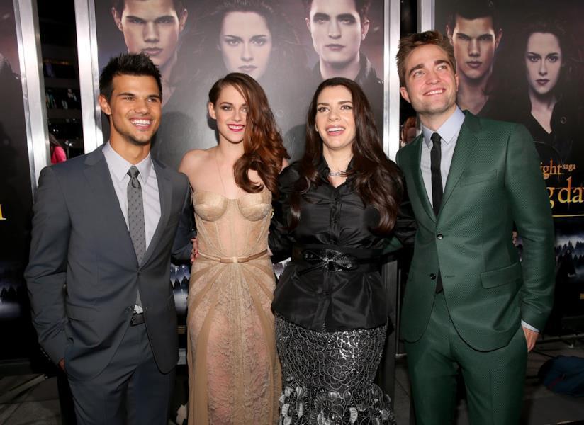 Taylor Lautner, Kristen Stewart, Stephenie Meyer e Robert Pattinson