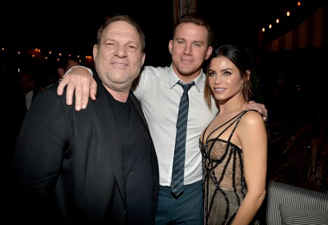 Una vecchia immagine di Harvey Weinstein con Channing Tatum e sua moglie Jenna