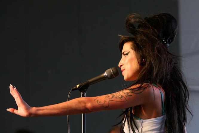 La cantante Amy Winehouse al Coachella Festival