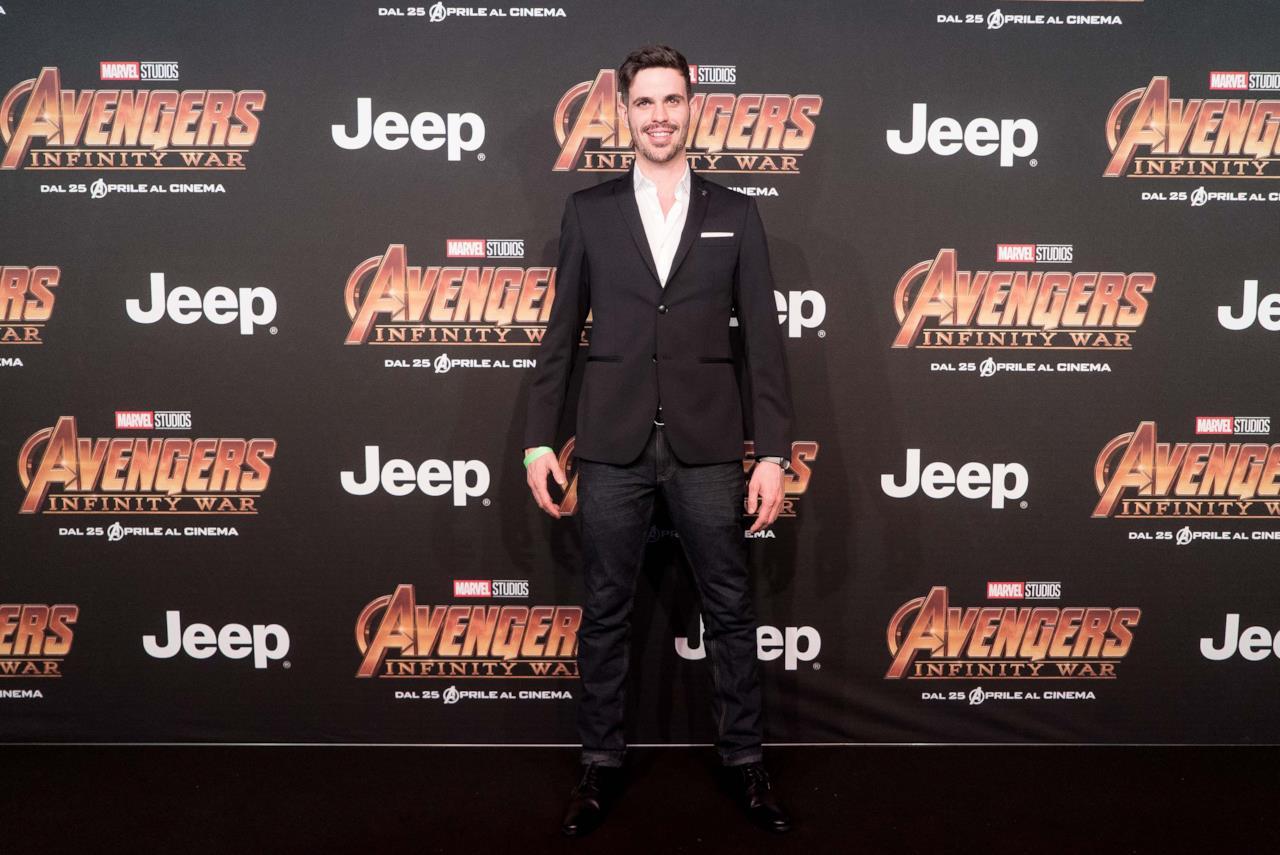 Lorenzo Baglioni alla première di Infinity War