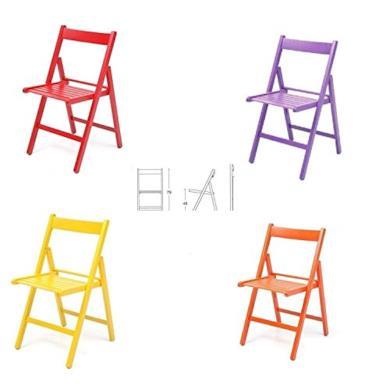 4 sedie colorate