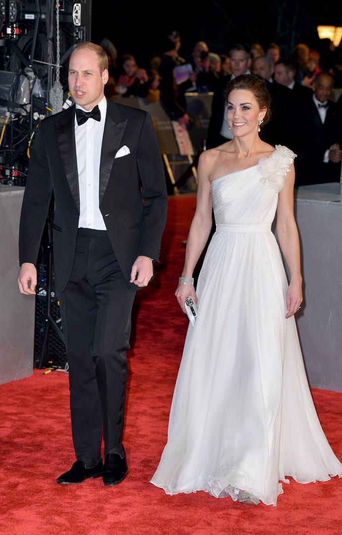 Kate Middleton e William sul red carpet dei BAFTA