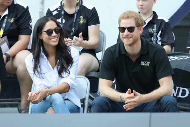Un sorridente scatto di Meghan Markle e Harry