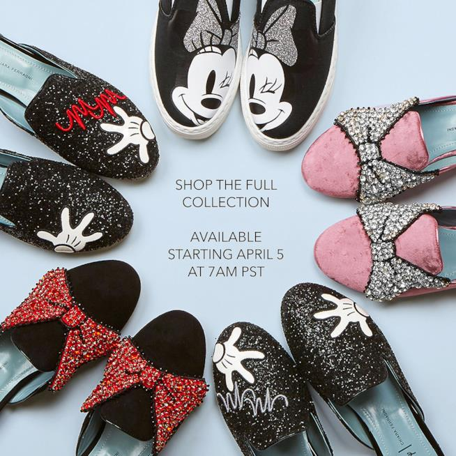 La collezione delle cinque scarpe di Minnie Mouse