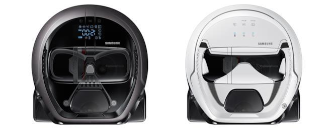 I due POWERbot di Samsung in versione Darth Vader e Stormtrooper