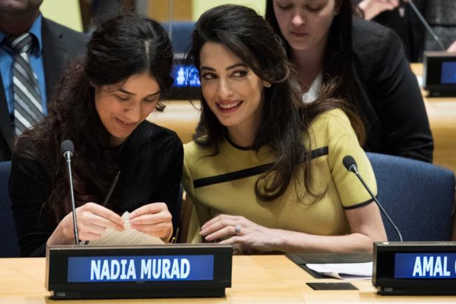 Nadia Murad e Amal Clooney