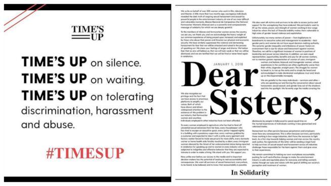 Time's Up: il manifesto dell'iniziativa