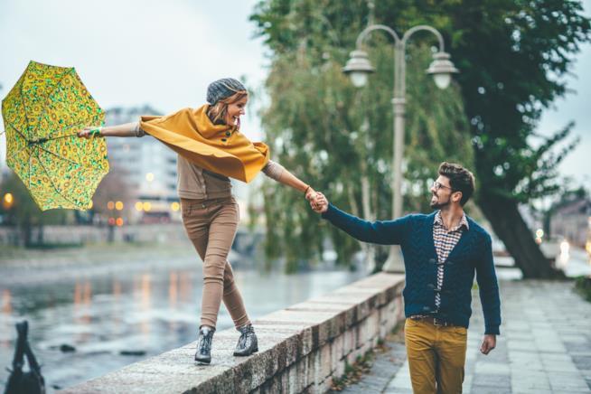 Passeggiata sotto la pioggia