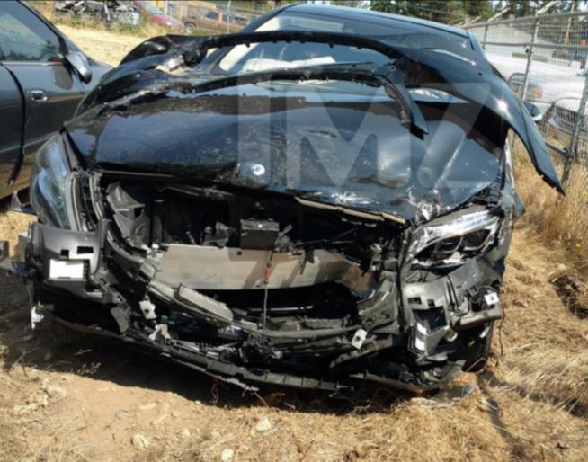 L'autovettura di Macklemore reduce dall'incidente