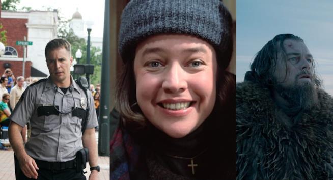 Immagini dai film Tre Manifesti a Ebbing, Missouri, Misery nond eve morire e Revenant - Redivivo