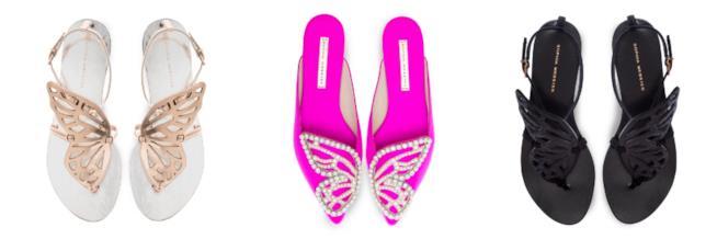 Colorati, i sandali con le applicazioni di farfalle