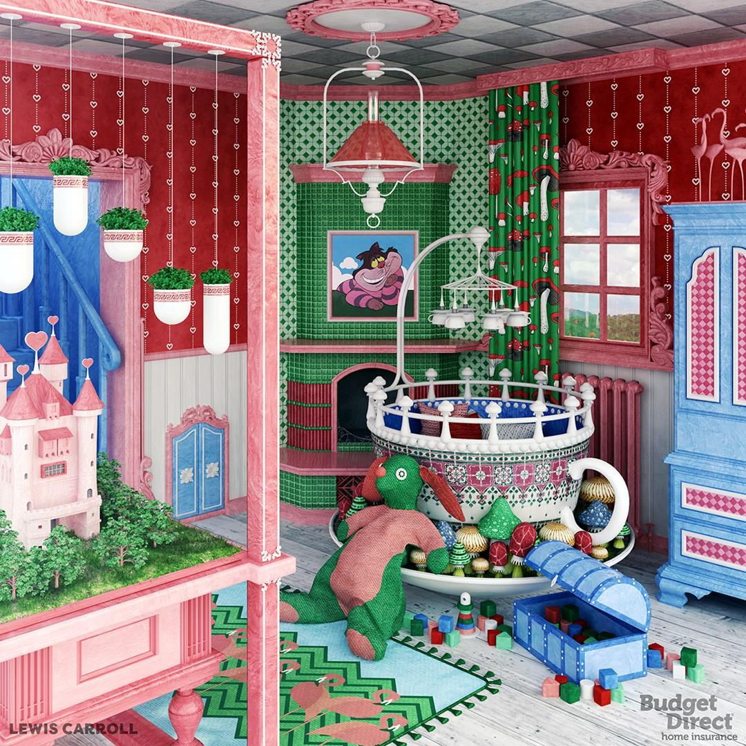 Camerette da sogno le camerette ispirate ai libri per bambini - Camerette da letto per bambini ...