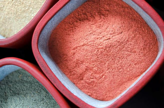Argilla rossa ricca di ferro