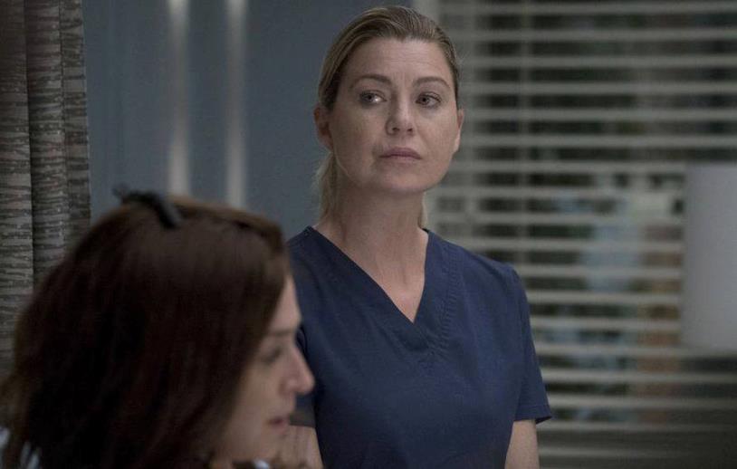Ellen Pompeo in una scena di Grey's Anatomy 14