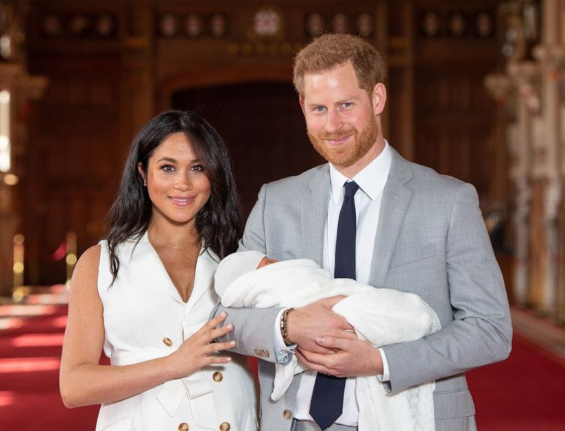 Meghan e Harry con il piccolo Archie in braccio