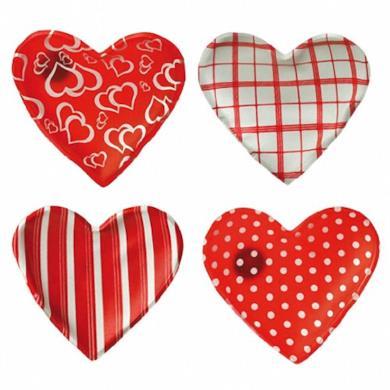 Set di scaldamani a forma di cuore composto da 4 pezzi